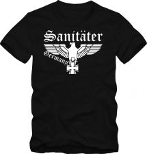 Buy Bundeswehr T-Shirt Wehrmacht Sanitäter T- Shirt bis 5 XL Funshirt 59