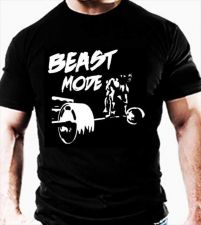 Buy DEADLIFT T SHIRT Beast Mode Casual Gym Wear workout training clothes TOP TEE D59