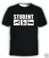 Buy DRINK SEX SLEEP STUDENT UNI FUNNY T-SHIRT D59