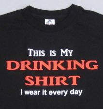 Buy DRINKING SHIRT T-shirt Adult Humor Alcohol Beer Wine Mens Tee S-XL Black New D59