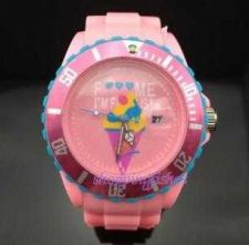 Buy fashion jelly watch with Pattern Calendar cartoon pink #342 Free shipping