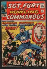 Buy SGT.FURY AND HIS HOWLING COMMANDOS WITH CAPTAIN AMERICA & BUCKY #13 12/64 VG