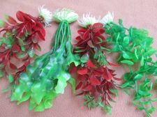 Buy Fish Tank Decorations imitation Water Plant Set of 4 New Red & Green Free ship