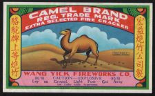 Buy CAMEL FIREWORK VINTAGE BRICK LABEL COVER 80/18 DOT CLASS C MADE IN MACAU