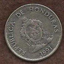 Buy Honduras 20 Centavos 1991 Coin, Lempira Brave