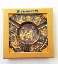 Buy METAL ASHTRAY THAI'S SOUVENIR COLLECTION,HANDICRAFT UNIQUE THAILAND'S STORY