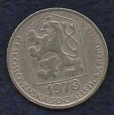 Buy 1978 Czechoslovakia 50 Haleru World Coin KM89 Czech Lion Star Socialist Shield