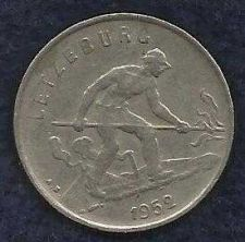 Buy Luxemburg 1 Franc 1957 Coin