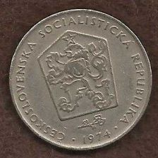 Buy CZECHOSLOVAKIA 1974 Two (2) Korun Coin