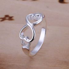 Buy 925 STERLING SILVER JEWELRY HEARTS RINGS WEDDING RINGS ENGAGEMENT BESROTHAT RING