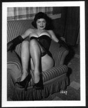 Buy MODEL ARLENE MAVER BOSOMY IN BLACK BUSTIER VINTAGE IRVING KLAW PHOTO 4X5 #1627
