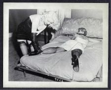 Buy BLONDE IN BONDAGE POSE WITH PAT MIDBLAINE IRVING KLAW VINTAGE PHOTO 4X5 #9522