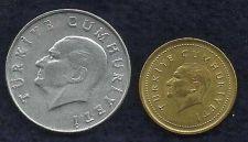 Buy Turkey 5000 Lira 1998 Coin & Turkey 10 Lira 1985 Coin
