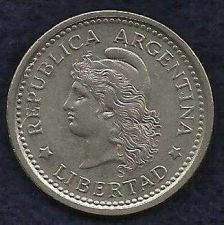 Buy Argentina 1 Peso 1962 Capped Liberty Head Coin