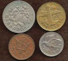 Buy Barbados 1973 Type Set of 4 Coins