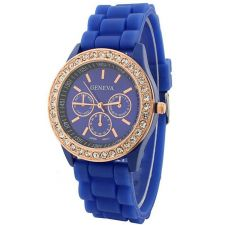 Buy New Geneva Crystal Jelly Gel Silicon Watch #513 free shipping