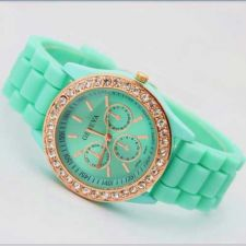 Buy New Geneva Crystal Jelly Gel Silicon Watch #514 free shipping
