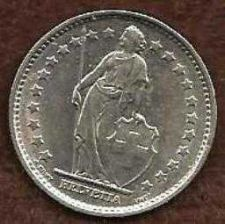 Buy Switzerland 1 Franc 1970 - Standing Helvetia with lance and shield