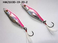 Buy Qty 2 HINOMIYA Metal Jigs Lure 20 gm,Pink Si,Glow in dark, Dress hooks, bass