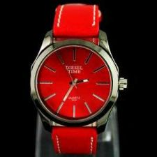 Buy Red Fashion Quartz WristWatch #116 Free shipping