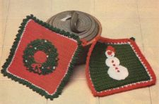 Buy Christmas Potholders to Crochet PDF Pattern Digital Delivery