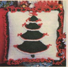 Buy Christmas Tree Pillow Crochet PDF Pattern Digital Delivery