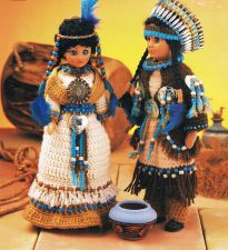 Buy Native Prince & Princess Doll Crochet PDF Pattern Digital Delivery