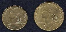 Buy France 2 Coin Set 20 Centimes 1985 & 10 Centimes 1996 - Nice Sharp Set!
