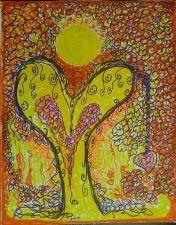 Buy Original Spiritual Angelic Angel Art/ Hearts/ High end decorating home/office