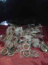 Buy 33 BACARDI GOLDEN COLORED KEYCHAINS*SEALED*AWESOME FOR FLEA MARKETS/VENDORS*