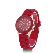Buy New Geneva Crystal Jelly Gel Silicon Watch #515 free shipping