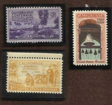 Buy US Stamps Califormia Theme 1948 to 1969 Lot of 3 Mint Stamps