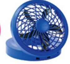 Buy 5-Inch USB & Electric Powered FAN : BLUE Color : Brand New : Ship FAST in USA