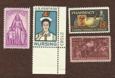 Buy US Stamps Medical Theme 1947 to 1972 Lot of 4 Mint Stamps