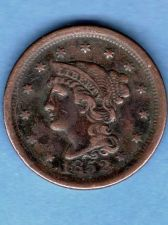 Buy Large Cent 1852 US Coin F 16