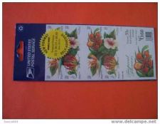 Buy USA Tropical Flowers booklet stamps mnh