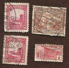 Buy COLUMBIA 1941 AIR POST STAMP - 15 CENTAVOS , 5 CENTAVOS, Half CENTAVO