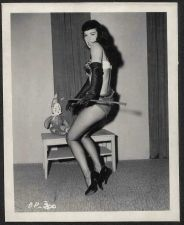 Buy BETTY PAGE COOL LEGGY HI HEELS POSE VINTAGE IRVING KLAW 4X5 BP-300