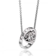 Buy 18K silver plated heart pendant necklace