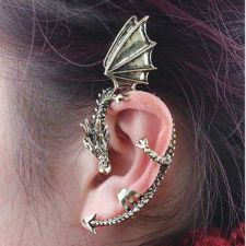 Buy 1pc Dragon style clip stud earring