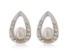 Buy White 18K RGP pearl earring