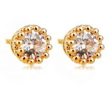 Buy Fashion crystal flower earring