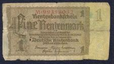 Buy Germany 1 Rentenmark 1937 Note # M99356032