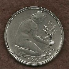 Buy West Germany 50 Pfennig 1967 D Coin - Great Coin!