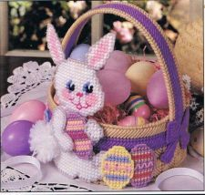 Buy Purple Bunny Easter Basket Plastic Canvas PDF Pattern Digital Delivery