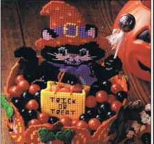 Buy Black Cat Halloween Basket Plastic Canvas PDF Pattern Digital Delivery