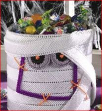 Buy Mummy Halloween Basket Plastic Canvas PDF Pattern Digital Delivery