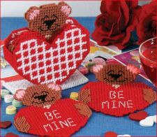 Buy Valentine Bear Coaster Plastic Canvas PDF Pattern Digital Delivery