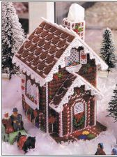 Buy Gingerbread House Tissue Cover Plastic Canvas PDF Pattern Digital Delivery