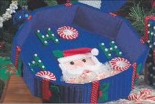 Buy Ho Ho Santa Candy Dish Plastic Canvas PDF Pattern Digital Delivery